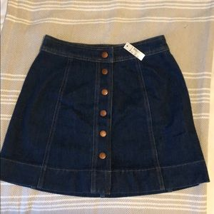 Madewell Metropolis Snap Denim Miniskirt